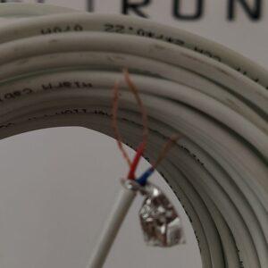 """Кабель Сигнальний """"VE"""" ALARM CABLE FTP CCA / 2 жили по 0.22 + оплетення + екран  / для мікрофону"""
