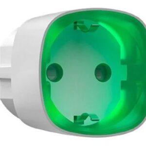 AJAX SOCKET / БІЛА / безпровідна розумна розетка для віддаленого керування живлення пристроїв від 220в / колір білий