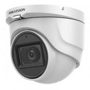 HD-камера HIKvision DS-2CE76D0T-ITPFS (2.8) / 2 мп / ahd-tvi-cvi-analog / вбудований мікрофон / фокус 2.8 мм монофокал / іч нічна підсвітка до 20м / корпус купол ip67 / колір білий