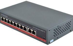 FoxGATE S5808P-G2 / кількість каналів 8 poe + 2 uplink / 100мб.с. / бж будований