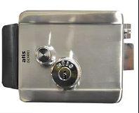 ATIS LOOCK ЕМЗ ЗОВН. ЛАЗЕР / електромеханічний замок з нержавіючої сталі / з лазерним ключом / накладного типу / 5 ключів / колір сірий