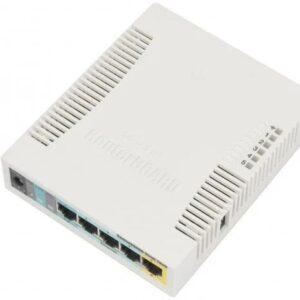 Роутер MICROTIC RB951UI-2HND / WI-FI 300 МБ / 600MHZ/128MB / 5Х100МБИТ / 1ХUSB / 1000MW / POE IN